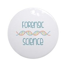 Forensic Science Ornament (Round)