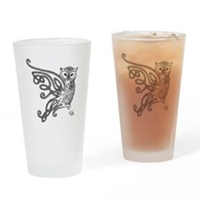 Celtic Knotwork Owl Drinking Glass