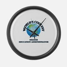Higher Education Administrator Large Wall Clock