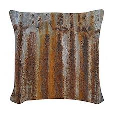 Rusty Tin Rusic Modern Woven Throw Pillow