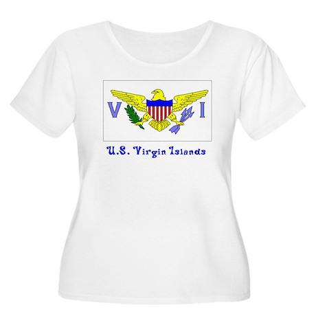 US Virgin Islands Flag Women's Plus Size Scoop Nec