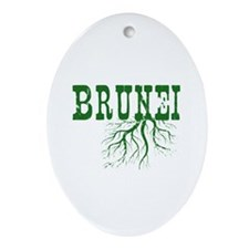 Bruneian Roots Ornament (Oval)