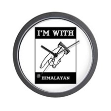 I'm With The Himalayan Wall Clock