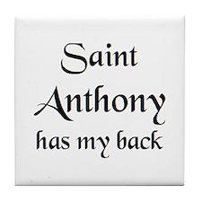 saint anthony Tile Coaster