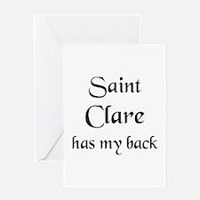 saint clare Greeting Card