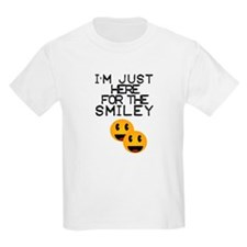 I'm just here for the smiley T-Shirt