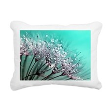 Funny Dandelion seeds blowing wind Rectangular Canvas Pillow