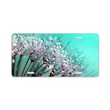 Cute Dandelion seeds blowing in the wind Aluminum License Plate