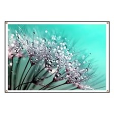 Funny Dandelion seeds blowing in the wind Banner