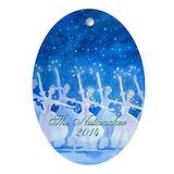 Nutcracker ballet Oval Ornaments