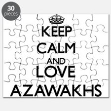 Keep calm and love Azawakhs Puzzle
