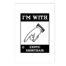I'm With The Shorthair Postcards (Package of 8)