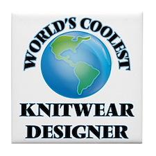 Knitwear Designer Tile Coaster