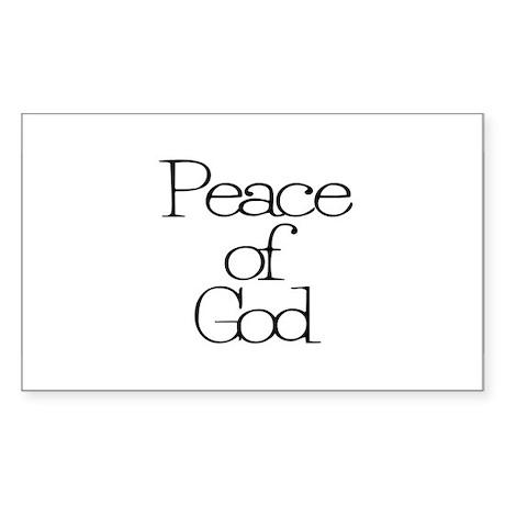 Peace of God Rectangle Sticker