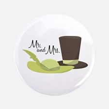 """Mr And Mrs 3.5"""" Button"""