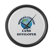 Land Developer Large Wall Clock