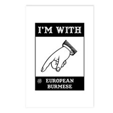 I'm With The Burmese Postcards (Package of 8)
