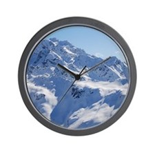 Snowy Peak Wall Clock