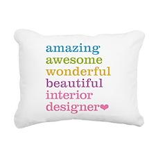 Interior Designer Rectangular Canvas Pillow