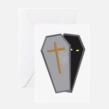 Halloween Coffin Greeting Cards