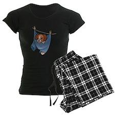 Puppy On Clothesline Pajamas