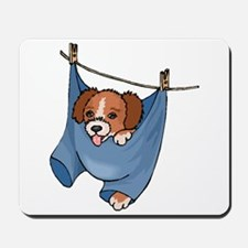 Puppy On Clothesline Mousepad