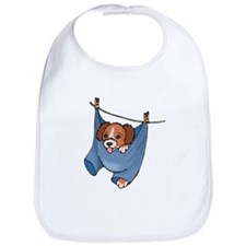 Puppy On Clothesline Bib