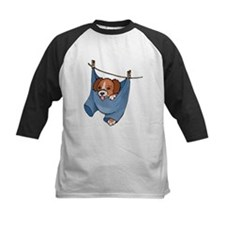 Puppy On Clothesline Baseball Jersey