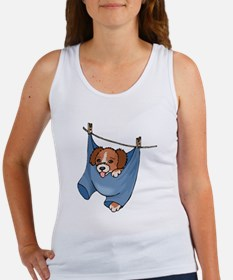 Puppy On Clothesline Tank Top