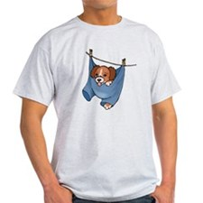 Puppy On Clothesline T-Shirt