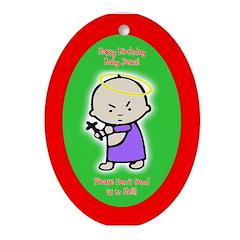 Baby Jesus Oval Ornament