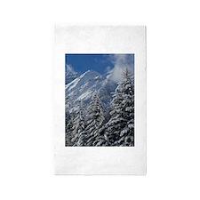 Wonderful Snowy Mountain Scene 3'x5' Area Rug