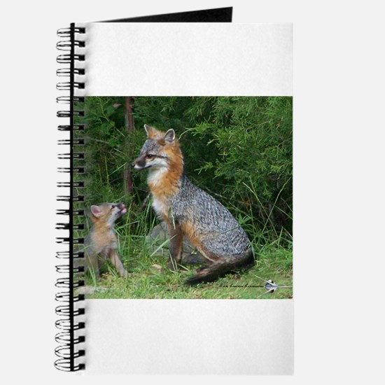 MOTHER RED FOX AND BABY Journal