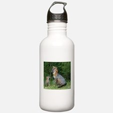 MOTHER RED FOX AND BABY Water Bottle