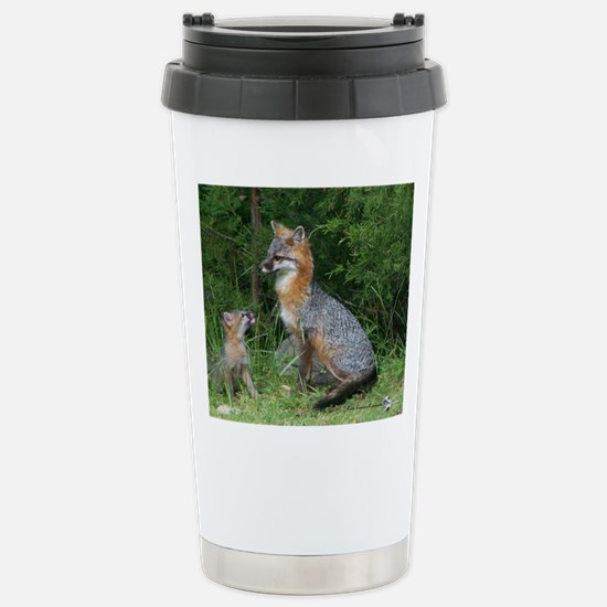 MOTHER RED FOX AND BABY Travel Mug