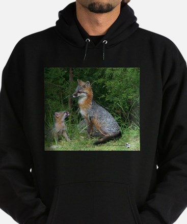 MOTHER RED FOX AND BABY Hoodie