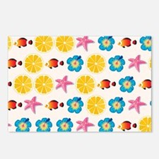 Cute pattern for kids Postcards (Package of 8)
