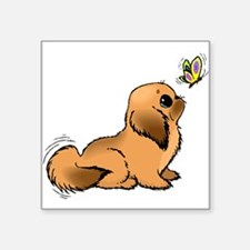 Puppy And Butterfly Sticker