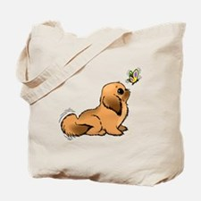 Puppy And Butterfly Tote Bag