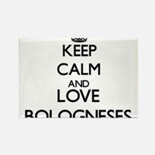 Keep calm and love Bologneses Magnets