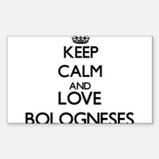 Keep calm and love Bologneses Decal
