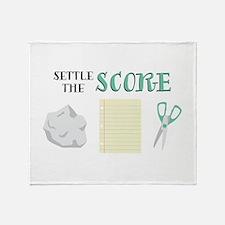 Settle The Score Throw Blanket