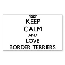 Keep calm and love Border Terriers Decal