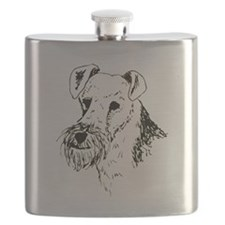 Wire Fox Terrier Flask