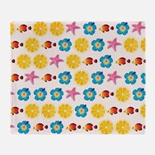 Cute pattern for kids Throw Blanket