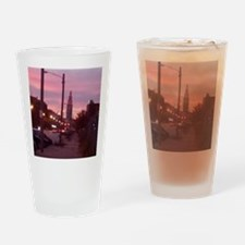 sunset tower Drinking Glass