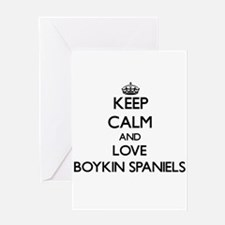 Keep calm and love Boykin Spaniels Greeting Cards