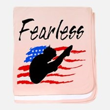FEARLESS DIVER baby blanket