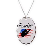 FEARLESS DIVER Necklace Oval Charm