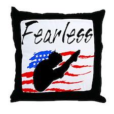 FEARLESS DIVER Throw Pillow